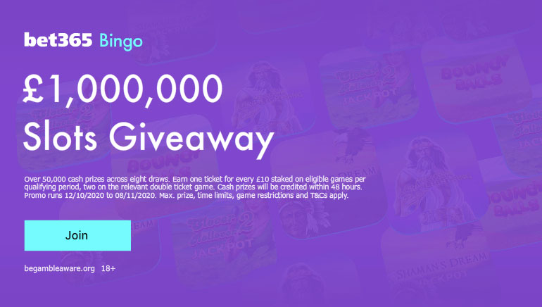 The bet365 £1,000,000 Slots Giveaway