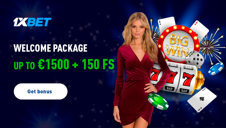 1xBet Casino Giving Out €1,500 Welcome Package