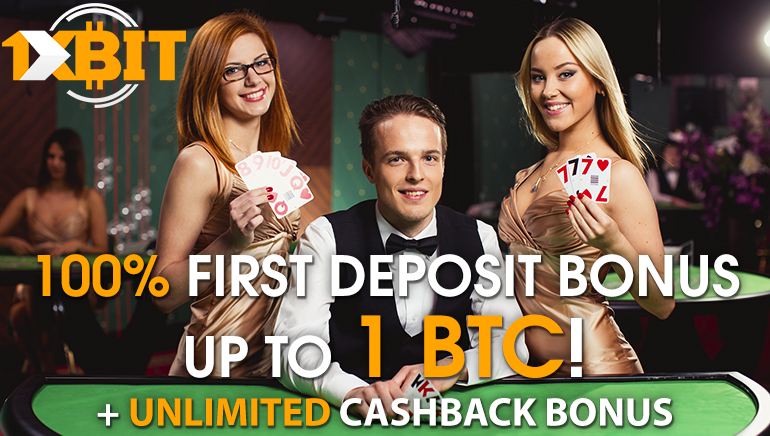 Grab a 1BTC Welcome at 1xBit Casino with Unlimited Cashbacks