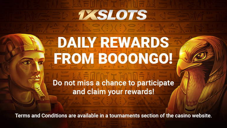 Complete Daily Tasks and get rewarded at 1xSlots Casino