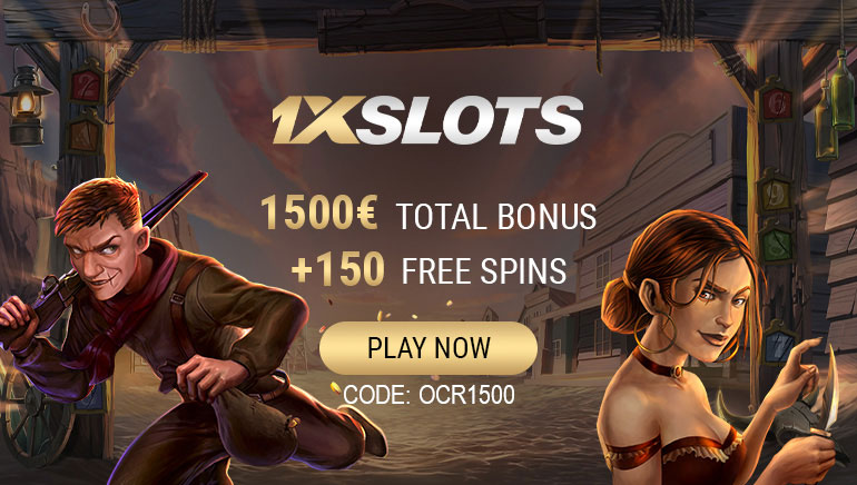 Claim Big Welcome Package Featuring €1,500 & 300 Spins at 1xSlots Casino