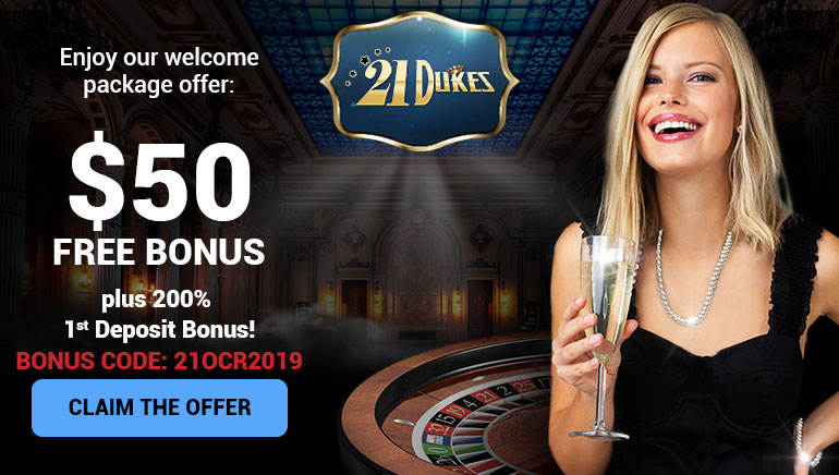 21 Dukes Casino Offers OCR Players $50 Free + 200% on 1st Deposit