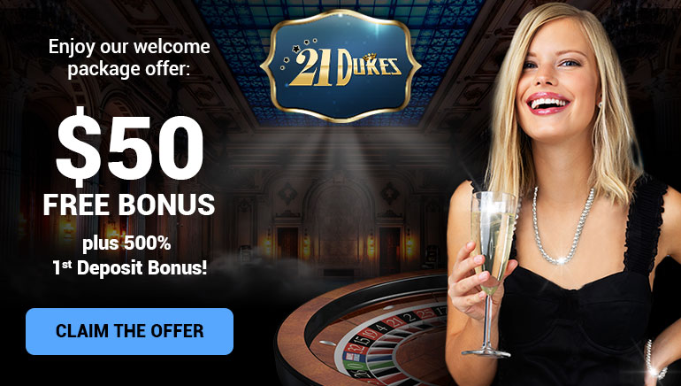 21Dukes Casino's Exclusive $50 No Deposit Offer