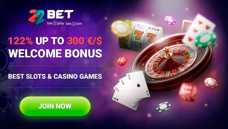 Play the Way You Deserve With 122% Bonus at 22BET Casino