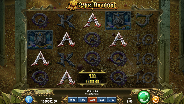 Play'n GO Releases New Epic Slot, 24K Dragon, with a Max Win of 24,000x the Stake
