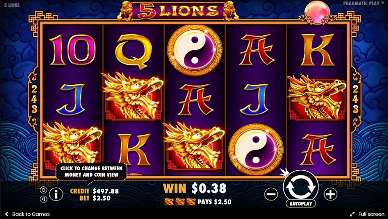 5 Lions Slot From Pragmatic Play Roars Into Casinos