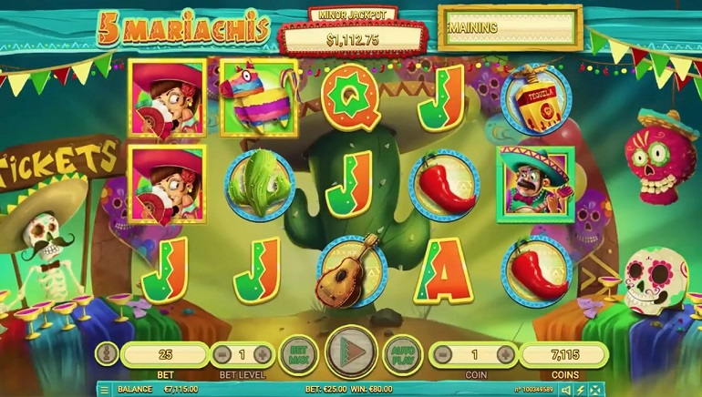 Habanero's New 5 Mariachis Slot is a Lovely Fiesta