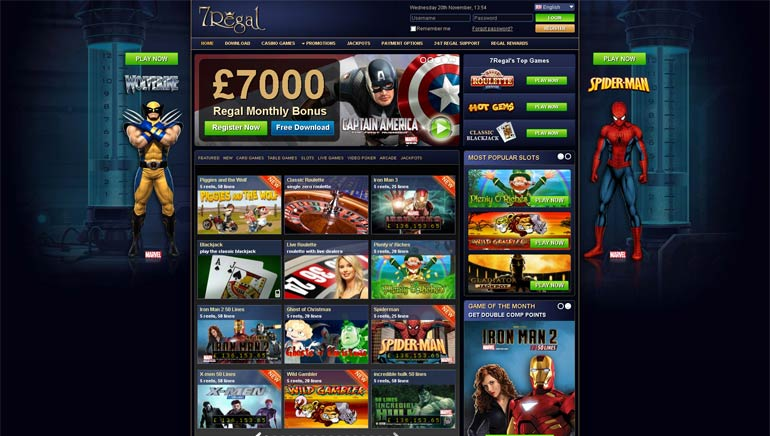 Exclusive No-Deposit Bonus Offer at 7Regal Casino