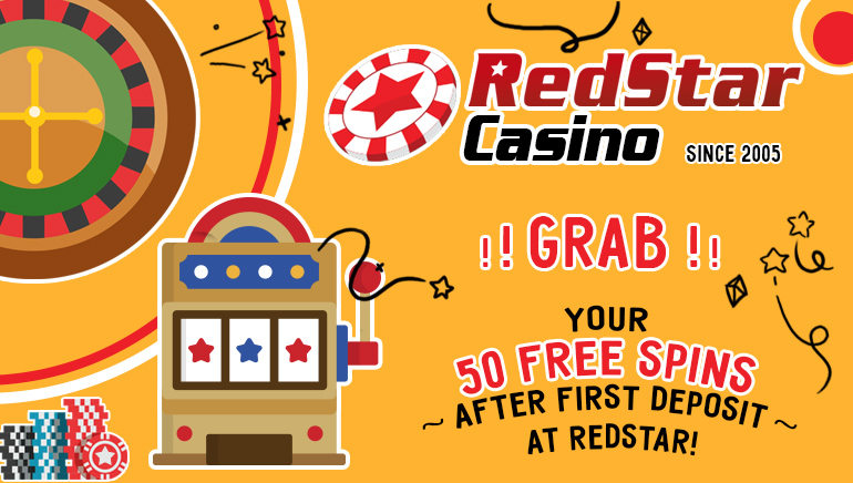 RedStar Casino Offers 50 Free Spins After the First Deposit
