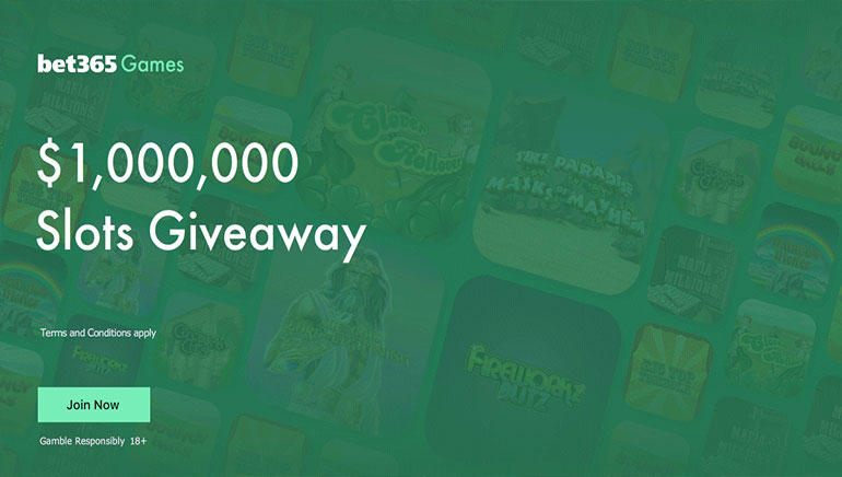Bet365 Slots Giveaway Featuring $1,000,000 Worth of Prizes