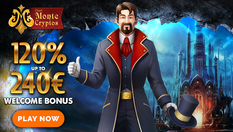 €240 Welcome Bonus & 20 Free Spins at MonteCryptos Casino