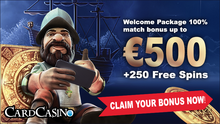 Card Casino's Big-time Welcome Package: €500 and 250 Free Spins