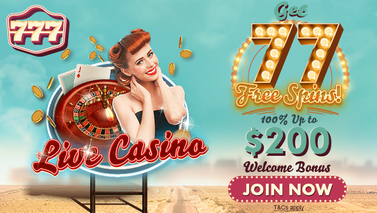 Grab Your 77 No Deposit Free Spins at 777 Casino Today