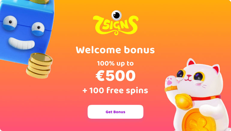Start Your 7Signs Casino Adventure With a Bonus up to €500 & 100 Free Spins