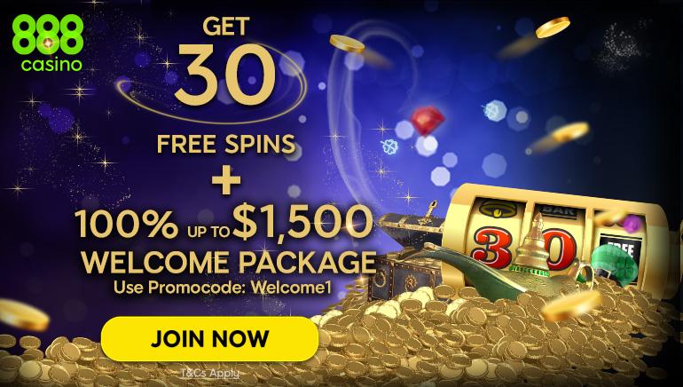 Claim 30 No Deposit Free Spins at 888 Casino