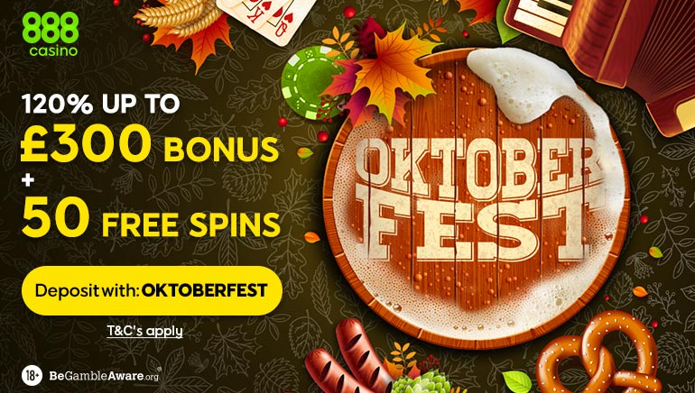 Say Prost with the 888 Casino Oktoberfest Promo