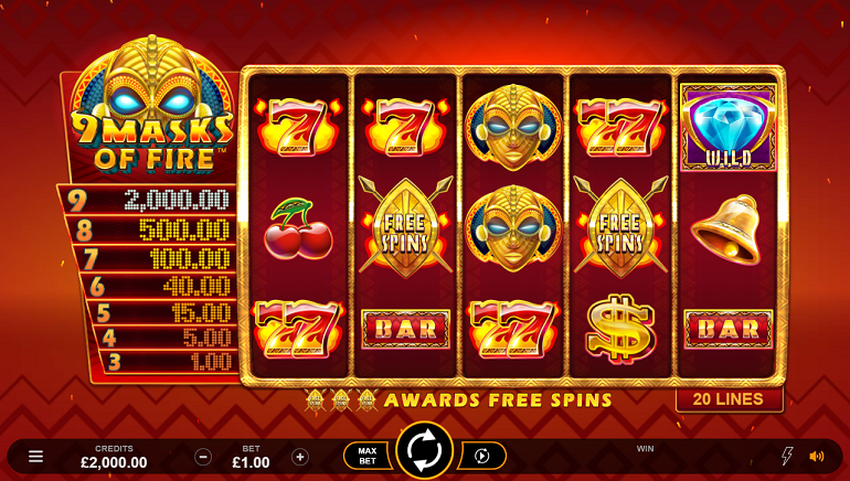 Playing Microgaming's New Slot - 9 Masks Of Fire