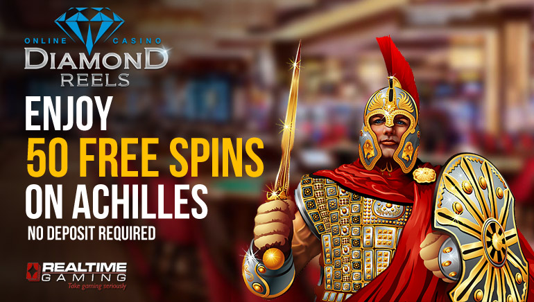 50 No Deposit Free Spins on Achilles at Diamond Reels