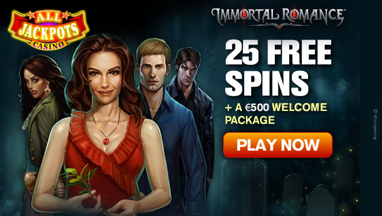 Enjoy 25 Free Spins at All Jackpots Casino