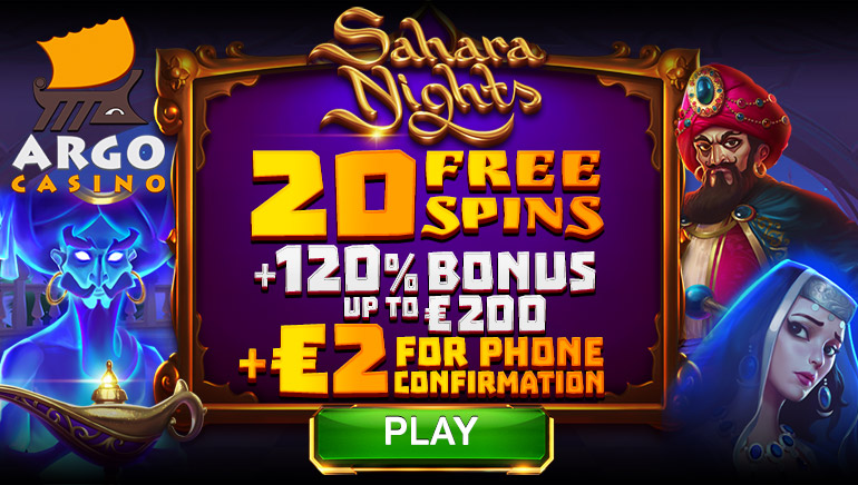 Kick-off 2020 with a Sparkling New Welcome Bonus Offer at Argo Casino
