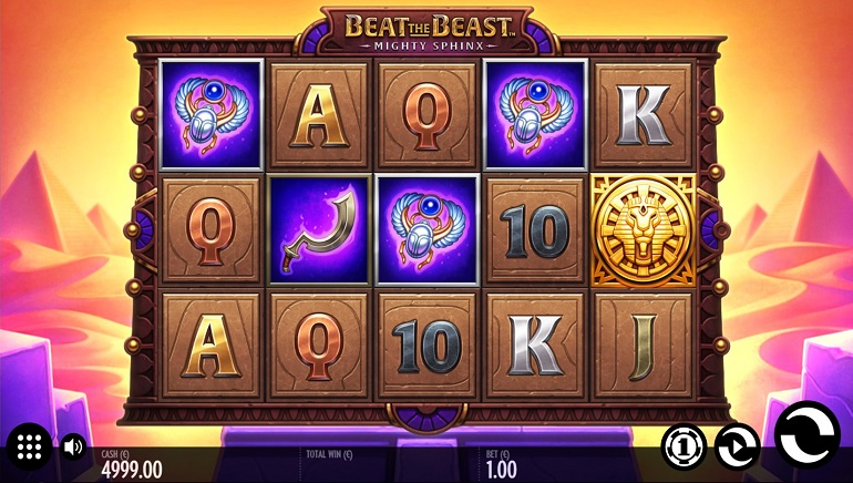 Beat the Beast: Mighty Sphinx Slot Game by Thunderkick