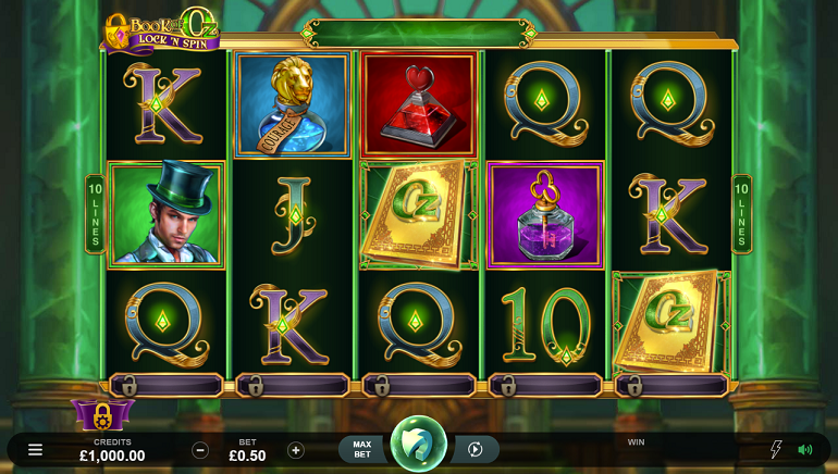 Slot Review: Book of Oz Lock 'N Spin by Microgaming and Triple Edge Studios
