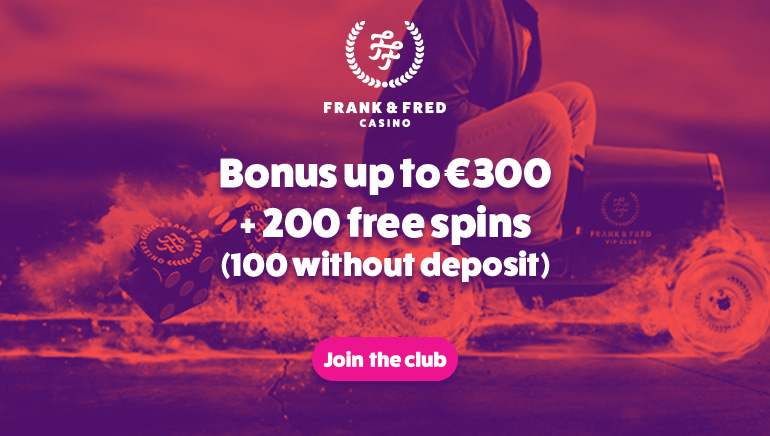 Get 100 Free Spins to Kick Off Frank & Fred Casino's Massive Welcome Offer