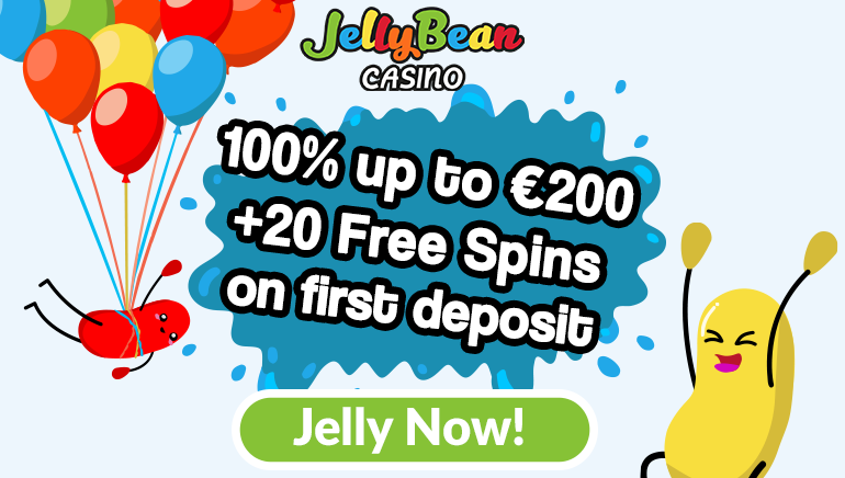 Set on a Sweet Journey With JellyBean Casino 100% Bonus & 20 Free Spins