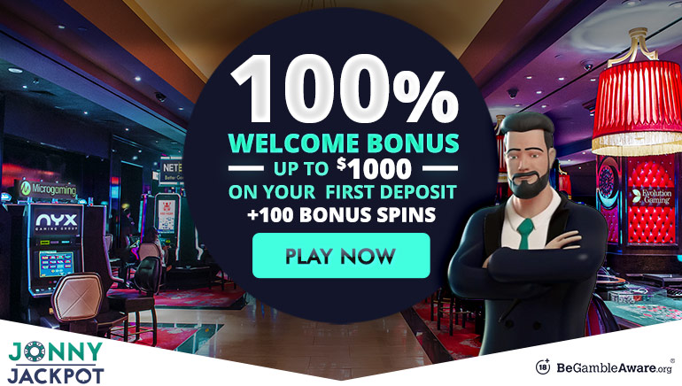 Jonny Jackpot Offers Feisty $1000 Welcome Bonus for New Players