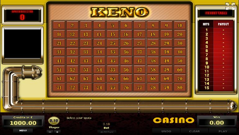 free online casino games keno