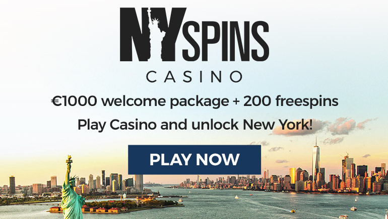 Everything's Bigger with the NY Spins Casino Welcome Package