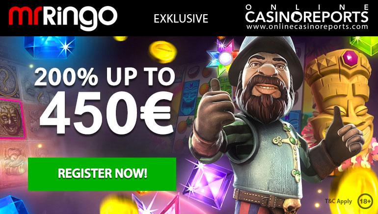 Claim an Exclusive Enhanced 200% Welcome Bonus at Mr Ringo Casino