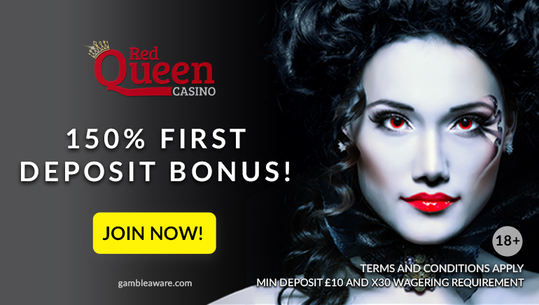 Eat Your Heart Out with a 150% Welcome Bonus from Red Queen Casino
