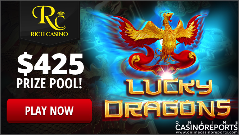 Get 60 Freespins in The Exclusive Lucky Dragons Tourney at Rich Casino