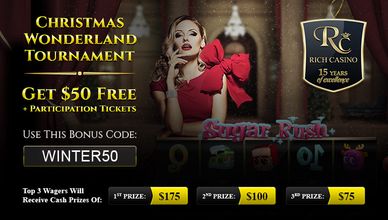 Sugar Rush Winter Tournament at Rich Casino