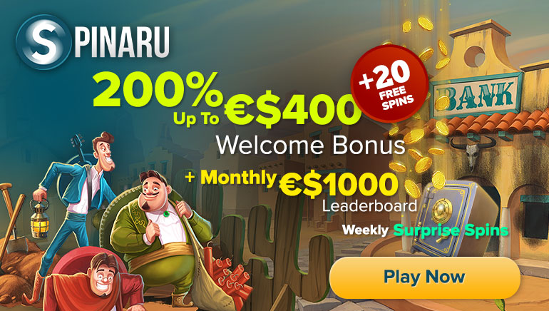 Join Spinaru Casino to Claim up to €/$400 Welcome Bonus & Enjoy Other Perks