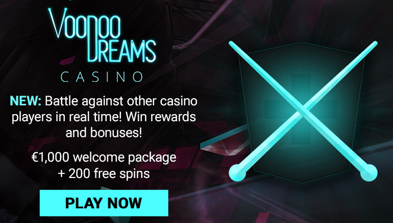 Claim a Cash Bonus and Free Spins at Voodoo Dreams Casino