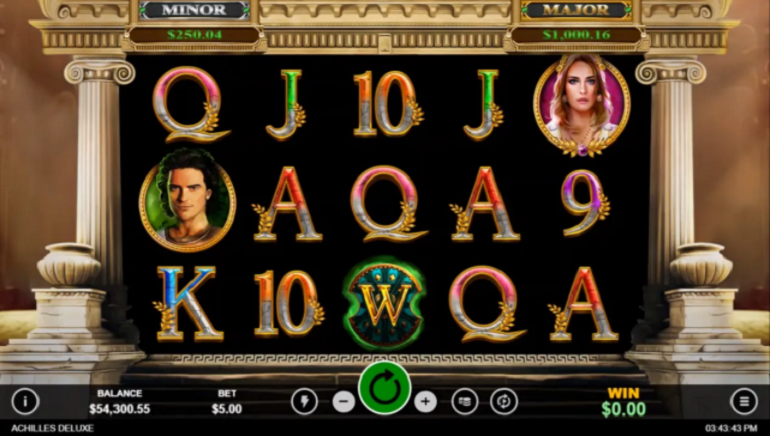 Claim A Special Bonus To Play Achilles Deluxe Slot At Intertops Casino Red