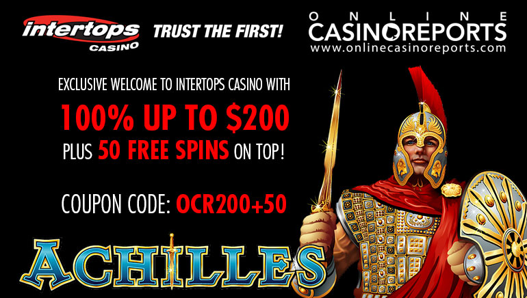 Claim 50 Exclusive Freespins and a Hefty Match Bonus at Intertops Casino