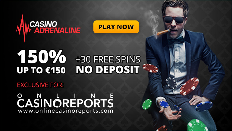 Get 30 Exclusive Freespins and Enhanced Welcome Bonus at Casino Adrenaline