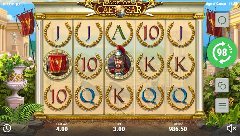 All Hail, The Age of Caesar Slot has Arrived!