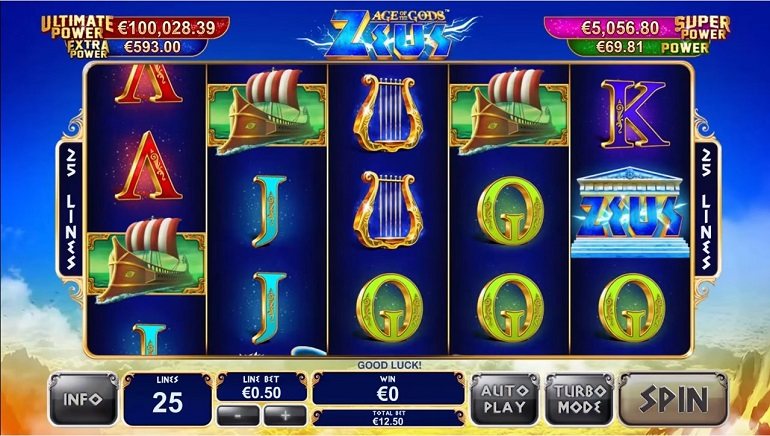Playtech Launches Greek Mythology Themed Slot Zeus, First in the Age of the Gods Series