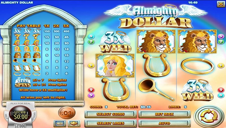 Rival Releases Almighty Dollar Slot Game