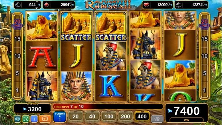 EGT Releases Almighty Ramses II Slot