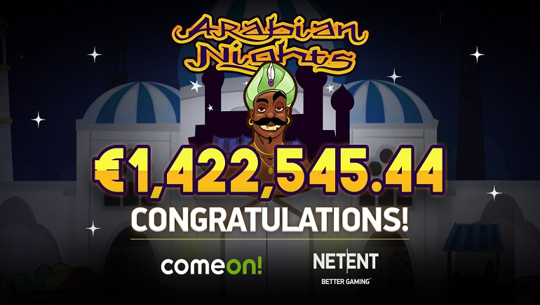 Lucky Swedish Player Claims €1.4 Million Arabian Nights Jackpot