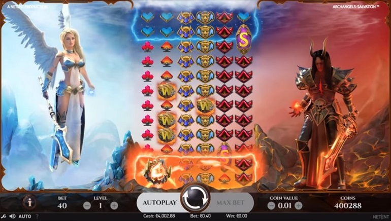 NetEnt Debuts Their First 100-Payline Slot with Burning Hot Archangels: Salvation