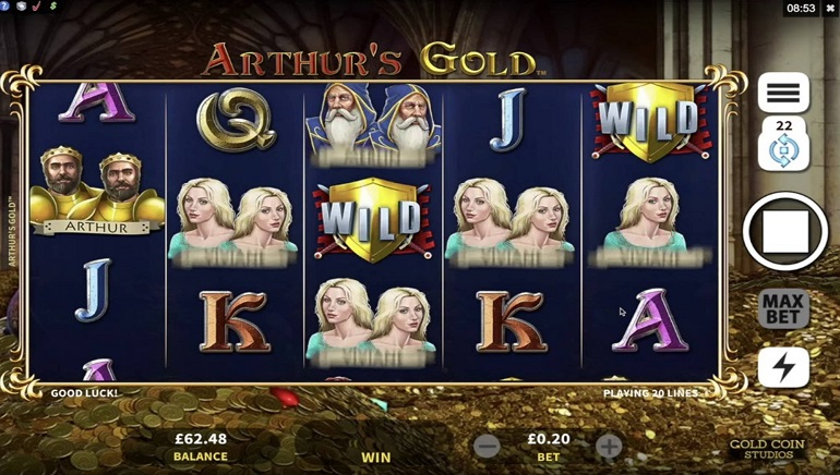 Microgaming Launches Debut Online Slot From Gold Coin Studios - Arthur's Gold