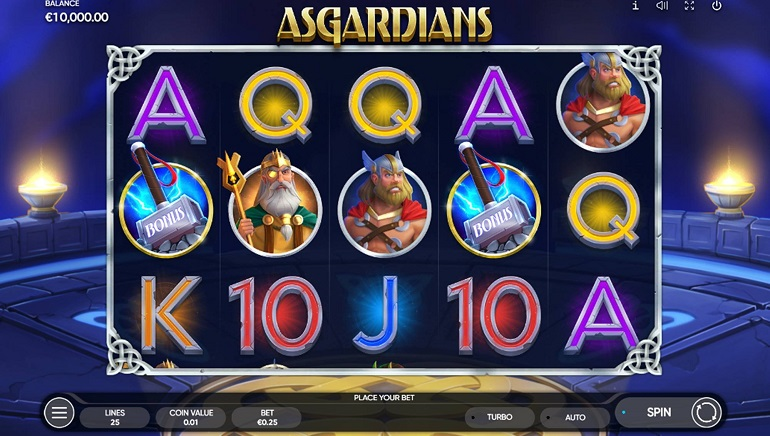 Playing Endorphina's New Asgardians Slot