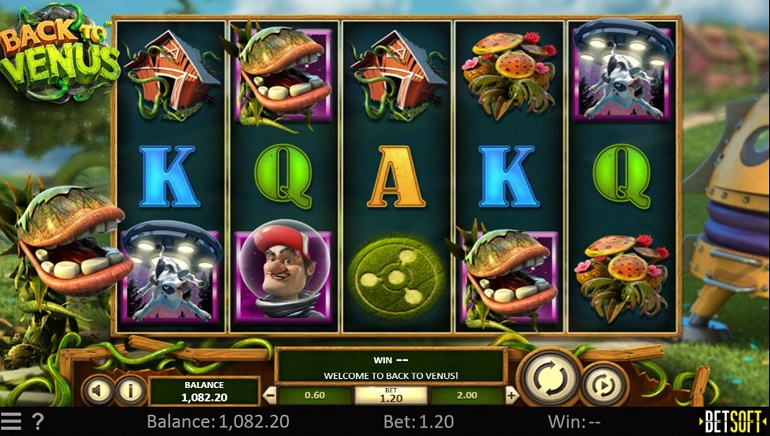 Fight The Alien Plants In Betsoft's New Back To Venus Slot