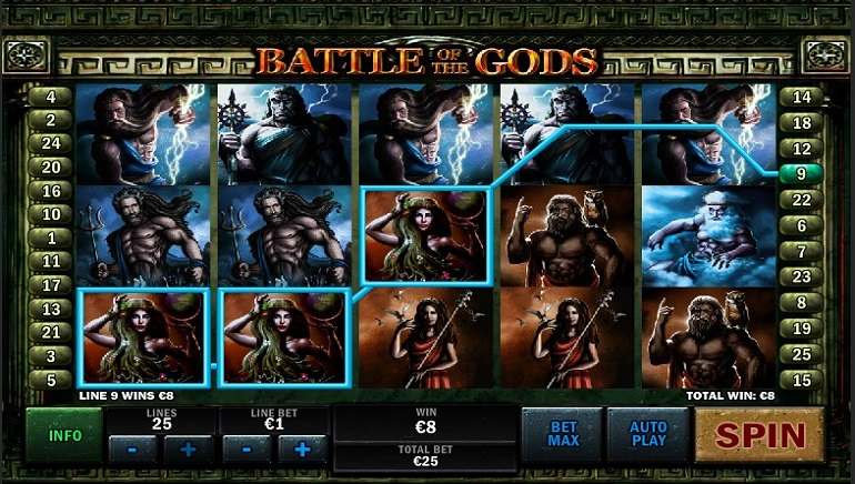 Battle Of The Gods™ Slot Machine Game to Play Free in Playtechs Online Casinos
